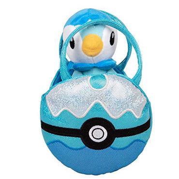 Pokémon Piplup Pokéball Plush Carrier Purse - with Cute Mini Togopi Plush Doll