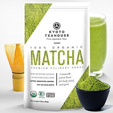 Superior Quality 100% Organic Japanese Matcha Green Tea Powder - USDA & JONA certified - Premium Culinary Grade - Perfect for Smoothies, Lattes,...