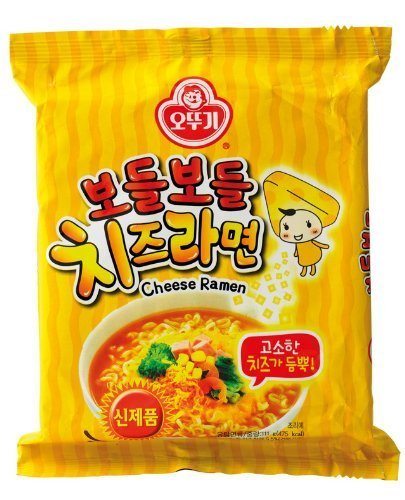 Ottogi Korean Instant Noodles (Cheese Flavor) X 4packs by Ottogi