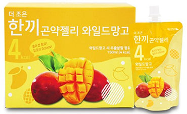 One Meal 4 Kcal Wild Mango Flavor Konjac Jelly Collagen Diet Food Weight Loss Vitamin C (1 Box 10 Packs)