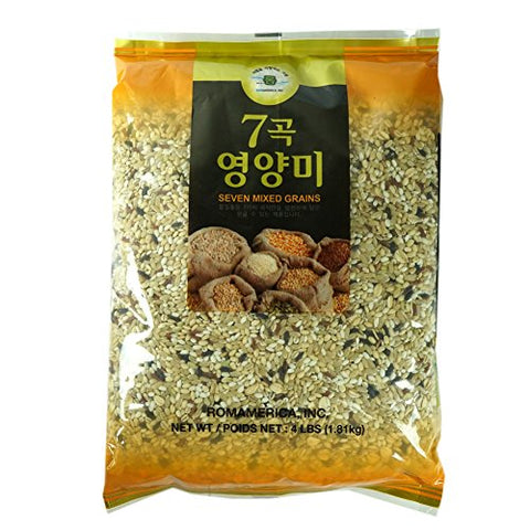 7 Seven Mixed Grains Brown Rice Sweet Rice Whole Barley 4 Pound