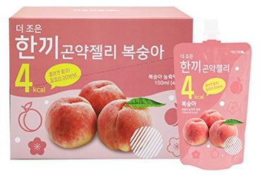 One Meal 4 Kcal Peach Flavor Konjac Jelly Collagen Diet Food Weight Loss Vitamin C (1 Box 10 Packs)
