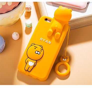 CASESOPHY 3D Cartoon Lion Shaped Case with Strap for Apple iPhone6 iPhone6s