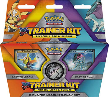 Pokemon 820650801051 TCG: XY Trainer Kit-Pikachu Libre & Suicune 2-Player Learn-to-Play Set (Discontinued by Manufacturer), Multicolor