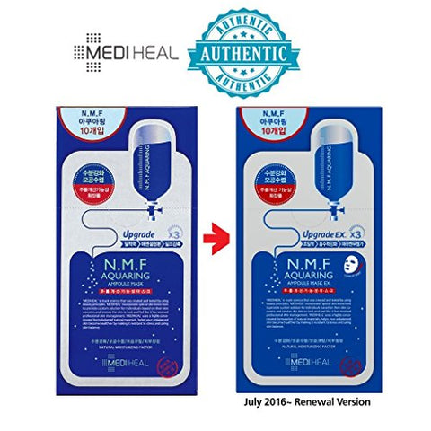 [MEDIHEAL] N.M.F Aquaring Ampolue Mask EX. 25ml Pack of 10