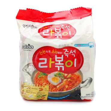 [Korean Noodle] Paldo Immediate Stir-fried Rice Cake with Ramen Noodles 145g(Pack of 4) 팔도 즉석 라볶이