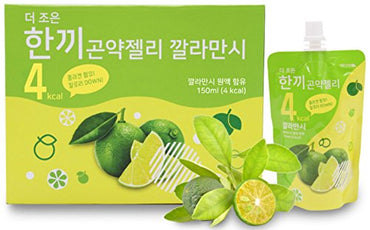 One Meal 4 Kcal Calamansi Konjac Jelly Collagen Diet food Weight Loss Vitamin C (1 Box 10 Packs)