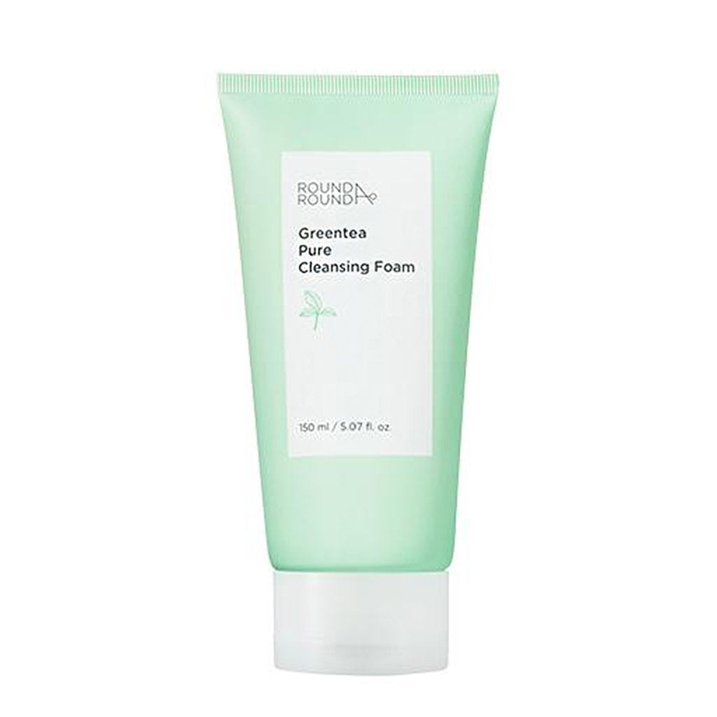 [ROUND A'ROUND] Green Tea Pure Cleansing Foam 150ml - pH 5.5~6.5 on your skin rest