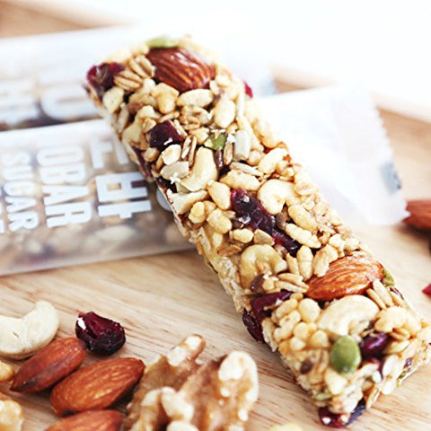 Dano Bar (10 Count), Whole Nuts and Granola Bar, Low Sugar, Almond, Sunflower Seed, Cashew, Walnut, Oatmeal