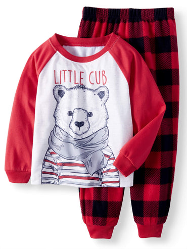 Polar Bear Family Sleep Pajamas, 2-piece Set (Toddler Boys or Toddler Girls Unisex)