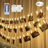 40 LED Photo Clip Lights - Photo Clips String Lights