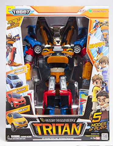 Tobot Youngtoys Tritan 3 Car Integration Robot Transforming Robot Car to Robot Animation Character