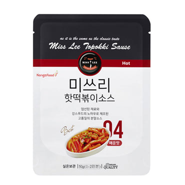 MISS LEE Korean Foods Topokki Ddeokbokki Stir-fried Rice Cake Sauce, Level 3 Spicy - Pack of 5