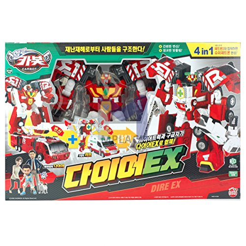 DIRE EX-Hello Carbot Transforming Robot Car Toys