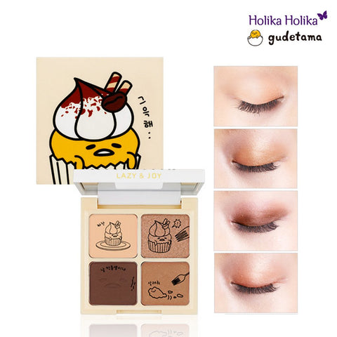 [Holika Holika] Lazy & Joy Gudetama Cupcake Eye Paltte Shadow (01 Red Velvet)