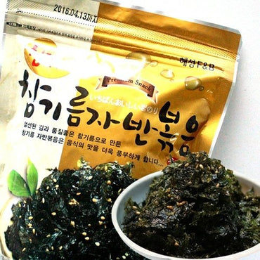 Korean Premium Roasted and Sea Salted Seasoned Seaweed Laver Snack 50g