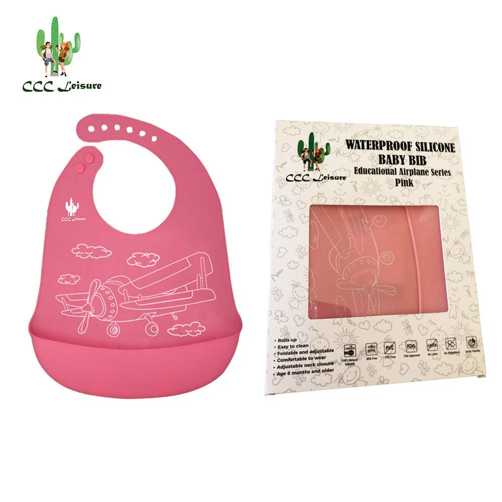 CCC Leisure Waterproof Silicone Bib for Infants and Babies