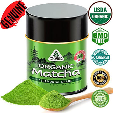 Matcha Green Tea Powder - [USDA Organic] Japanese Ceremonial Grade - Best Antioxidant 100% Pure [30g - 1oz] Original Powerful Energy Booster...