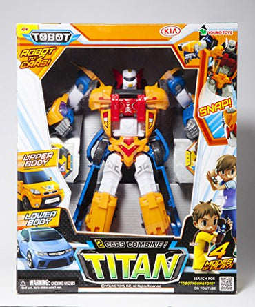 Tobot Youngtoys Titan 2 Car Integration Robot Transforming Robot Car to Robot Animation Character