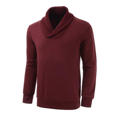 EGRETFLY Fashion Men's Fleece Sweatshirt Shawl Collar Pullover Sweater For Men