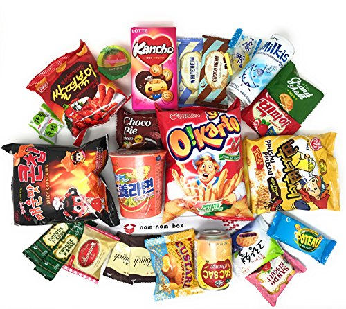Korean Snack Box (25 Count) | Variety Assortment of Korean Snacks, Chips, Cookies, Candies