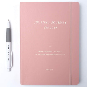 Journal Journey Dated Monthly Weekly Planner with AHZOA Pencil, Diary Date is Printed (Peacock Blue)