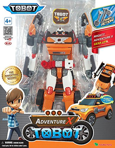 Tobot Youngtoys Adventure X Transforming robot Car to Robot Animation Character