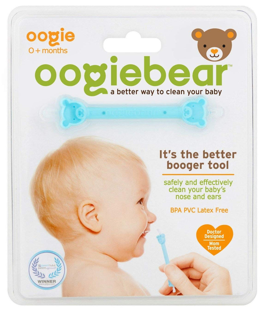 oogiebear - The Safe Baby Nasal Booger and Ear Cleaner; Baby Shower Gift and Registry Essential Snot Removal Tool