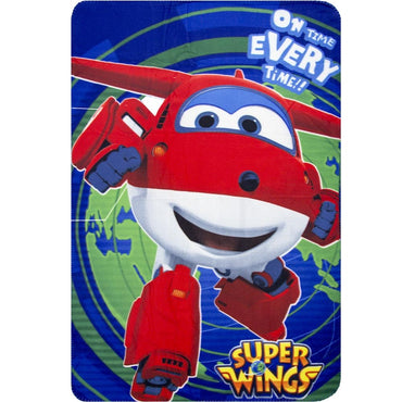 Super Wings Plaid Rug Blanket JETT Big Size 100x150 cm - HQ4364/1 (Multicolor)