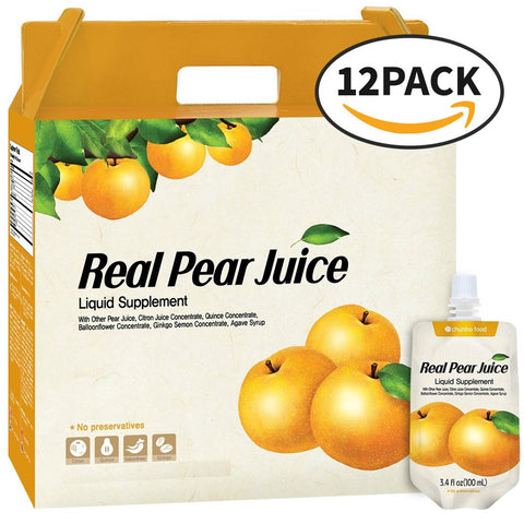 Chunho Food Real Pear Juice Liquid Supplement, Strengthens Immune System, Lowers Blood Pressure, Improves Digestions, Relieves Thirst and Hangovers, No...