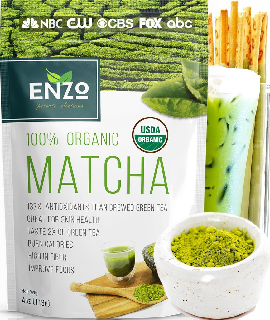 Matcha Green Tea Powder 4oz - Organic Vegan Milky Taste USDA Certified - 137x Antioxidants Over Brewed Green Tea- Great for Matcha Latte,...