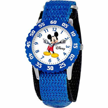 Disney Mickey Mouse Boys' Stainless Steel Watch, Blue StrapDisney Mickey Mouse Boys' Stainless Steel Watch, Blue Strap