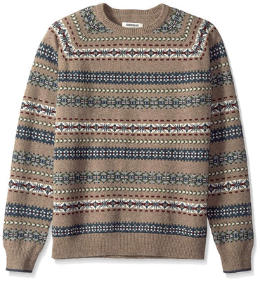 Goodthreads Men's Lambswool Fairisle Crewneck Sweater