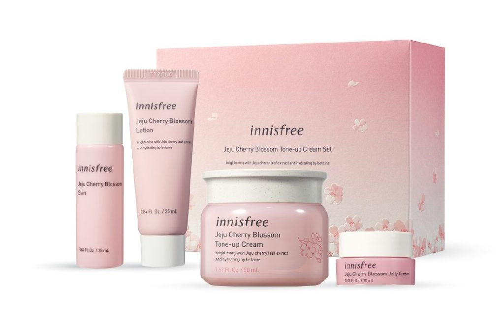 Innisfree Jeju Cherry Blossom Tone-up Cream Set