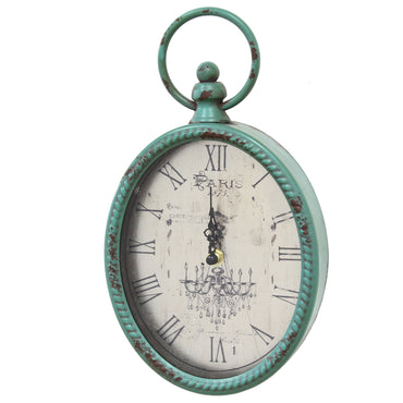 Stratton Home Decor Antique Oval Clock