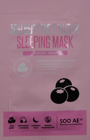 (4 Pack) Soo Ae Acai Berry Revitalizing Sleeping Mask, .35 oz(4 Pack) Soo Ae Acai Berry Revitalizing Sleeping Mask, .35 oz