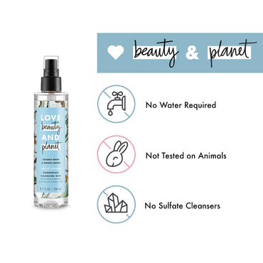 Love Beauty And Planet Coconut Water & Mimosa Flower Cleansing Body Mist Radical Refresher 6.7 ozLove Beauty And Planet Coconut Water & Mimosa Flower Cleansing Body Mist Radical Refresher 6.7 oz