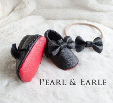 Red Bottom Baby Moccasins, Red Sole Baby shoes