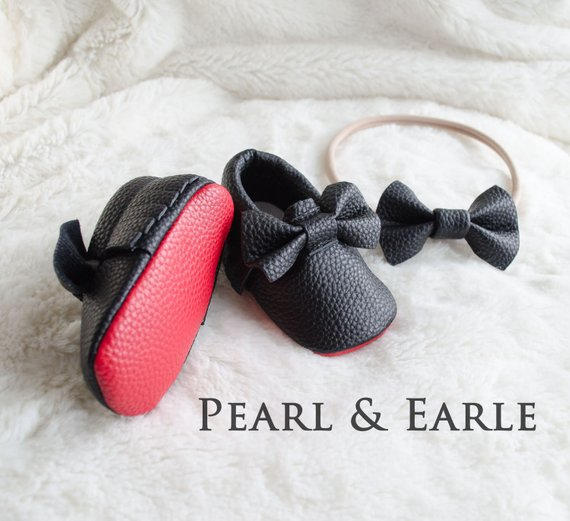ee6d2c6a246 Red Bottom Baby Moccasins, Red Sole Baby shoes – Kptown.com