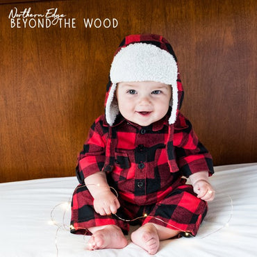plaid baby romper, lumberjack baby, canadian baby, cute onesie, christmas onesie, baby hunter onesie, plaid baby clothes, forest baby onsie