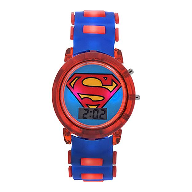DC Comics Superman Bullet Band Light Up Strap Watch