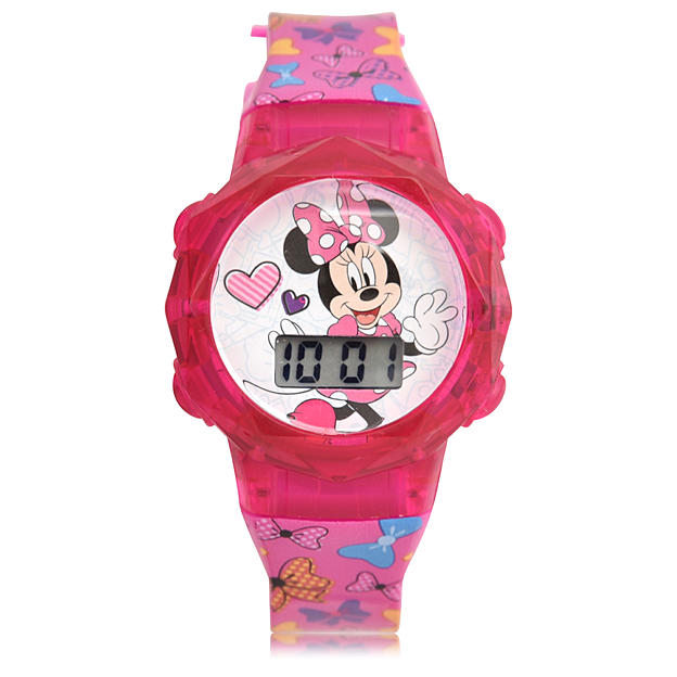 Disney Minnie Mouse Light Up LCD Watch with Coin Pouch