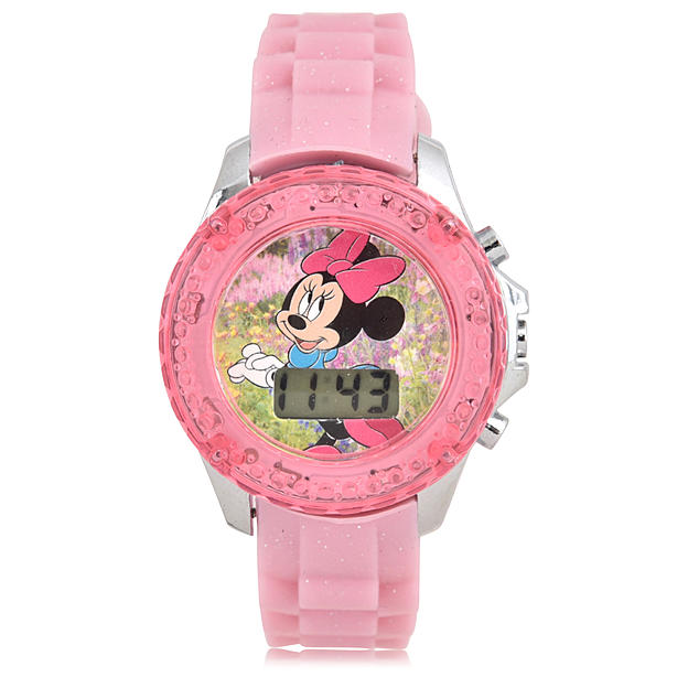 Disney Minnie Mouse Light Up Bezel Watch