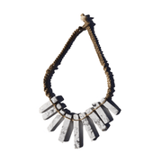Hemp & White Howlite Stone Necklace