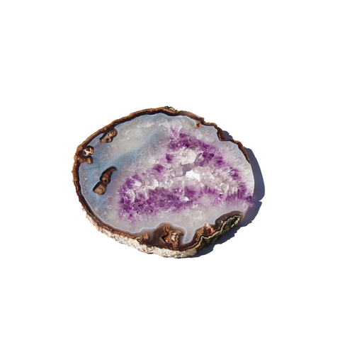 Agate and Amethyst platter Slice X Grade