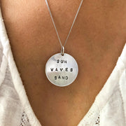 Sun Salt Sand Large Domed Coin Necklace