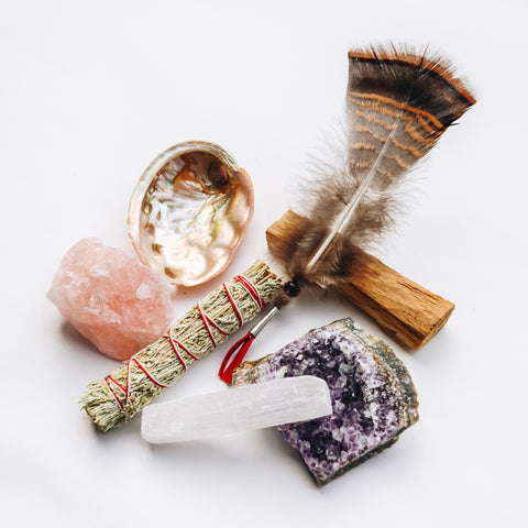 Home Protection Crystal Cleansing Smudge Kit