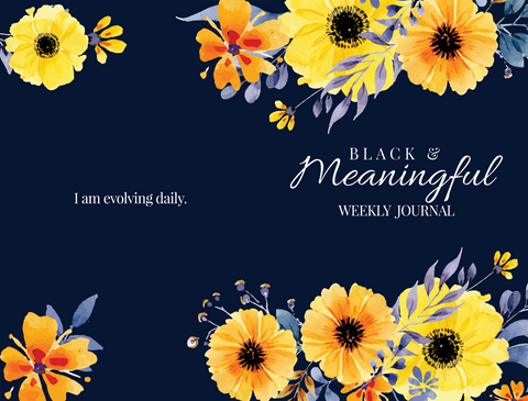 Black and Meaningful  Weekly Planner