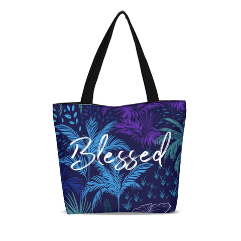 Blessed Canvas Zip Tote