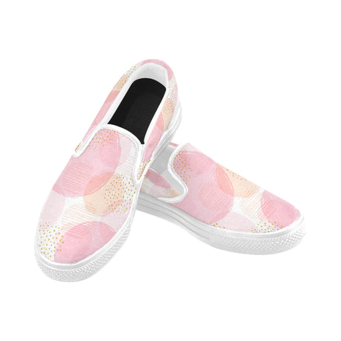 Pink Feeling Slip-on Canvas Women's Shoes